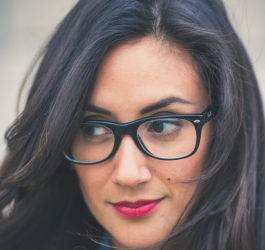 pretty_lady_brunette_with_glasses_pleased_look